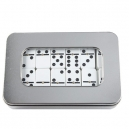 Juego de domino 28 piezas con estuche de aluminio