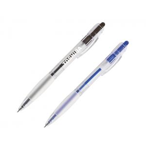 bolígrafo transparente de plástico mecanismo de click