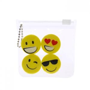 Set de 4 gomas para borra de Emoticón