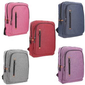 Mochila de 3 compartimentos y espacio para laptop en varios colores