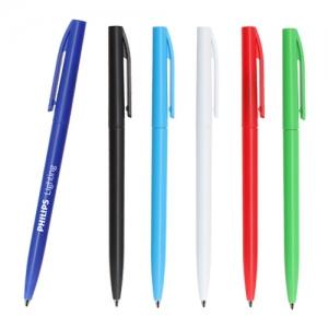 Bolígrafo de plástico en diferentes colores con sistema retráctil