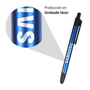 Bolígrafo o pluma touch en tinta azul