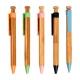 Bolígrafo o pluma de bamboo y plástico tinta azul