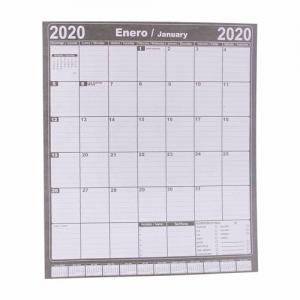 Calendario organizador de papel bond con diseño vertical