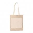 Bolsa combinada de Yute y algodón Leira 38 x 40 cm ecológica