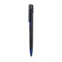 Bolígrafo plástico negro con detalles de color TRENDY