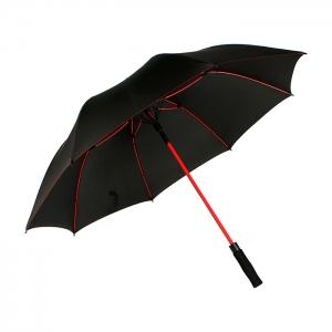 Paraguas en pongee con mango eva, varillas fibra de vidrio 65 cm diámetro