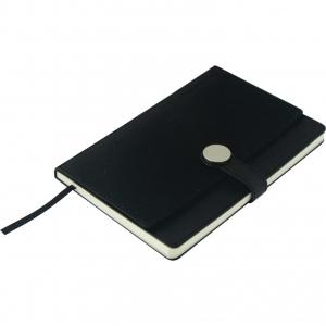 Libreta elegante para notas color negro de curpiel