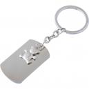 Llavero metálico de placa y figura de osito Ideal para regalo y recuerdos