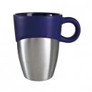 Taza de cerámica con recubrimiento de acero IRON 325ml