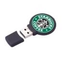 Memoria USB flash 4GB de plástico con cuerpo redondo