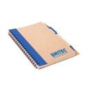 Libreta de papel reciclado con bolígrafo