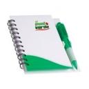 Libreta rígida bicolor con bolígrafo