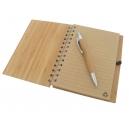 Libreta pastas de Bambú con bolígrafo.