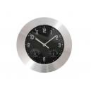 Reloj de pared de aluminio Mide temperatura y humedad