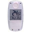 Termómetro digital con panel solar