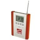 Radio ejecutivo con reloj y termómetro