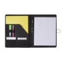 Carpeta o folder de microfibra de cierre con banda elástica, incluye bloc de hojas lisas