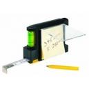 Flexómetro 2m nivel con notas y bolígrafo